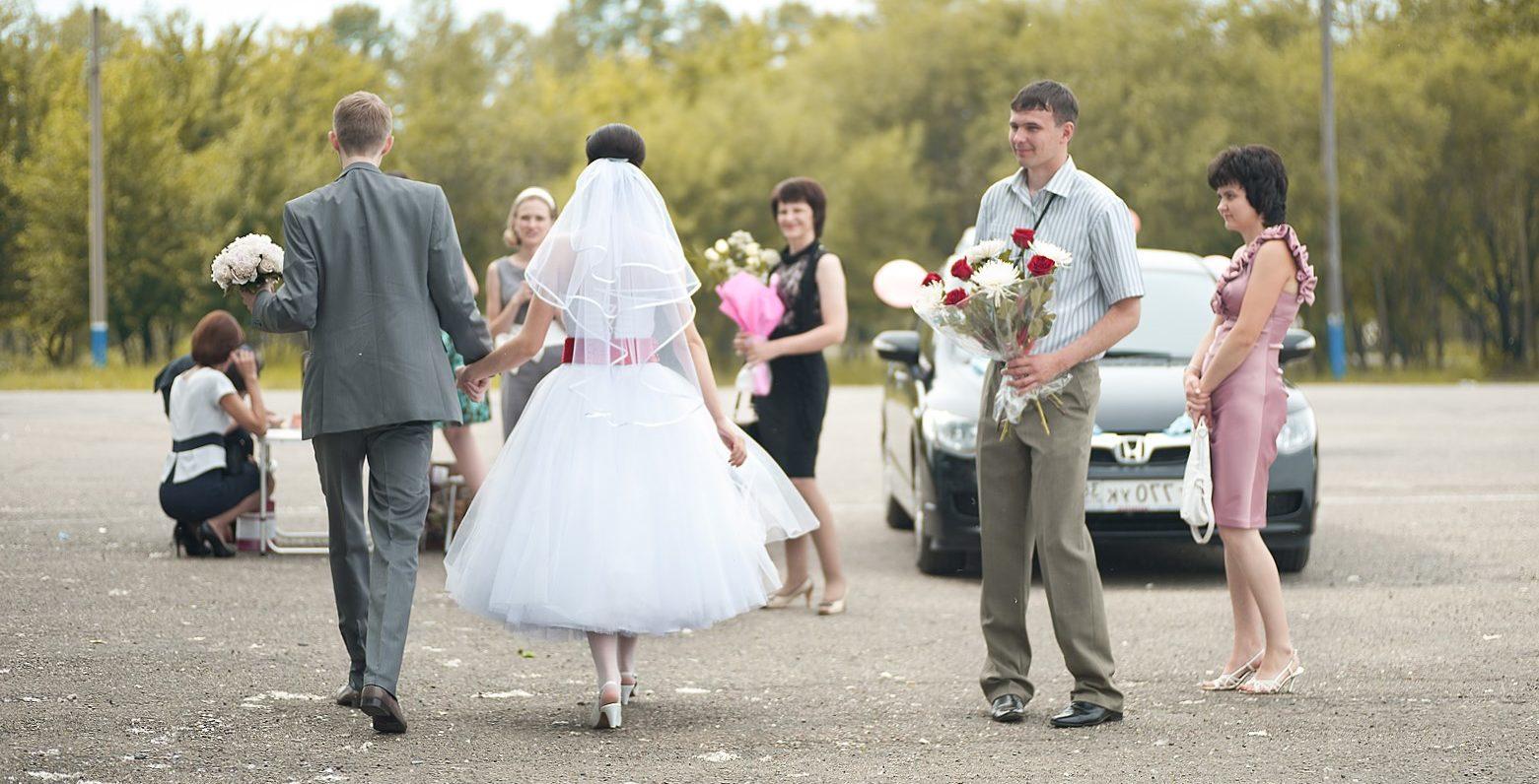 Свадьба на открытом воздухе