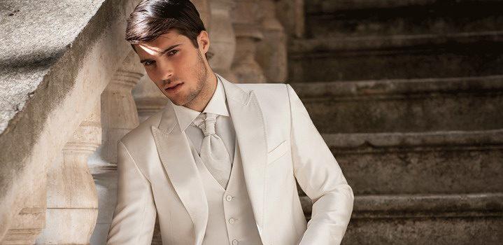Белые мужские костюмы на свадьбу
