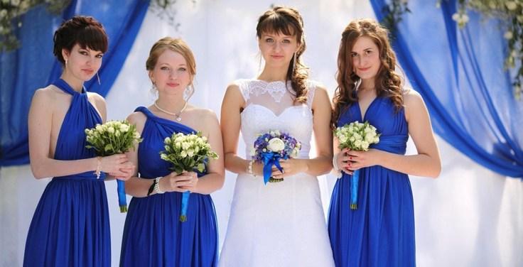 Свадьба в бело-синем цвете