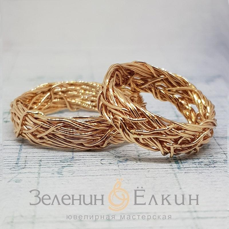 Плетеные обручальные кольца своими руками в Москве фото