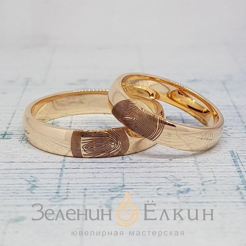 Обручальные кольца с отпечатками пальцев своими руками в Москве фото