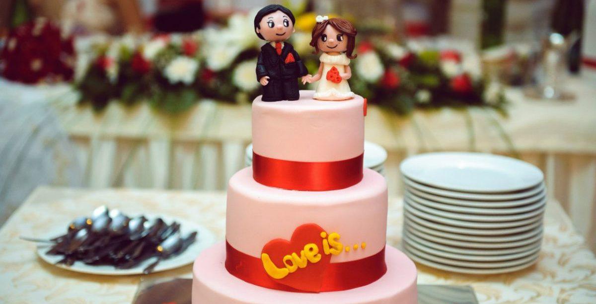 Свадебный торт лав из