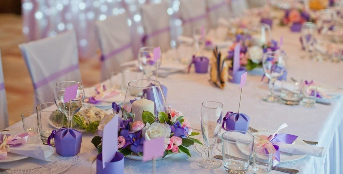 Украшение свадебного стола фото