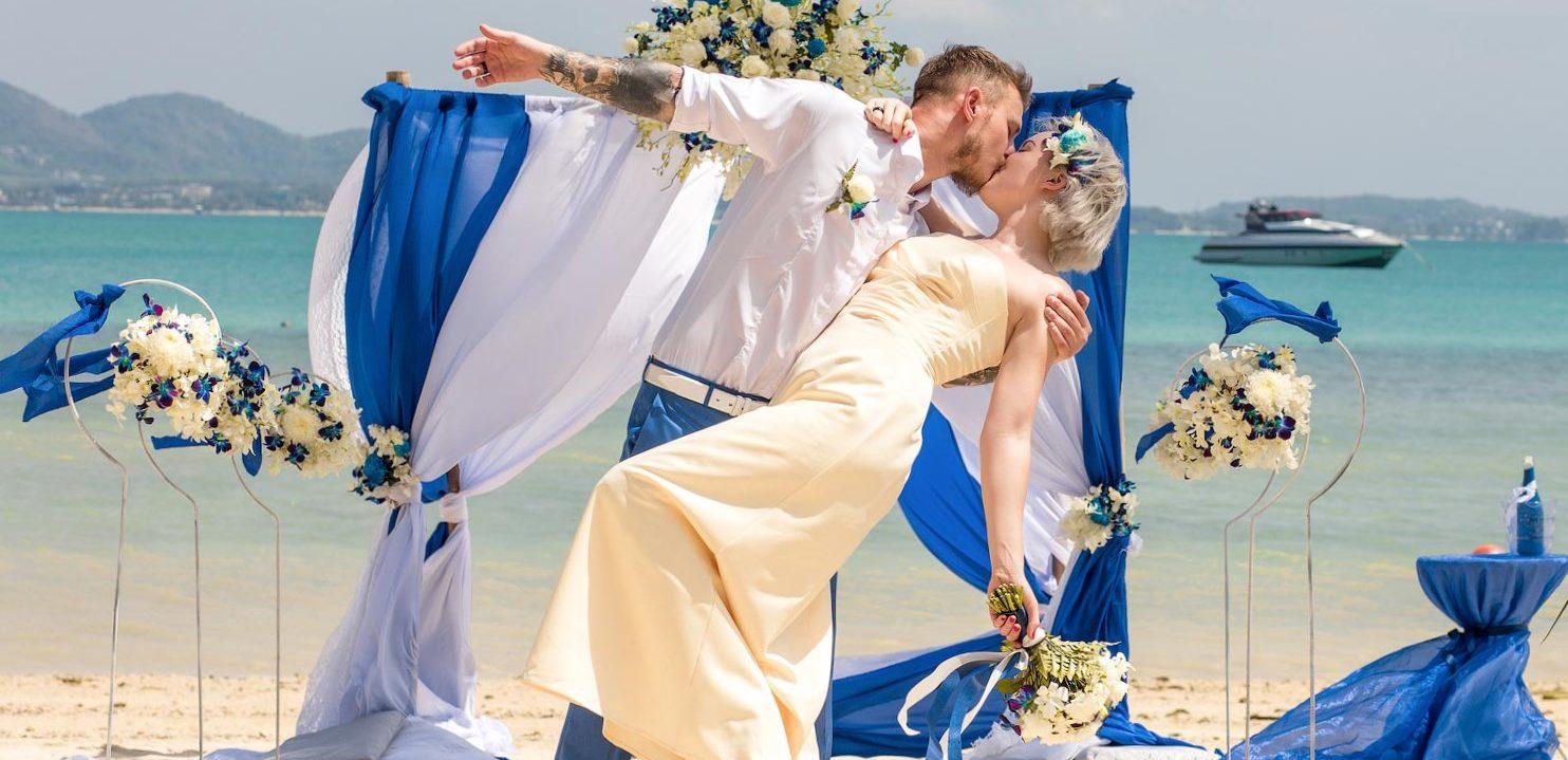 Свадебная церемония на пляже