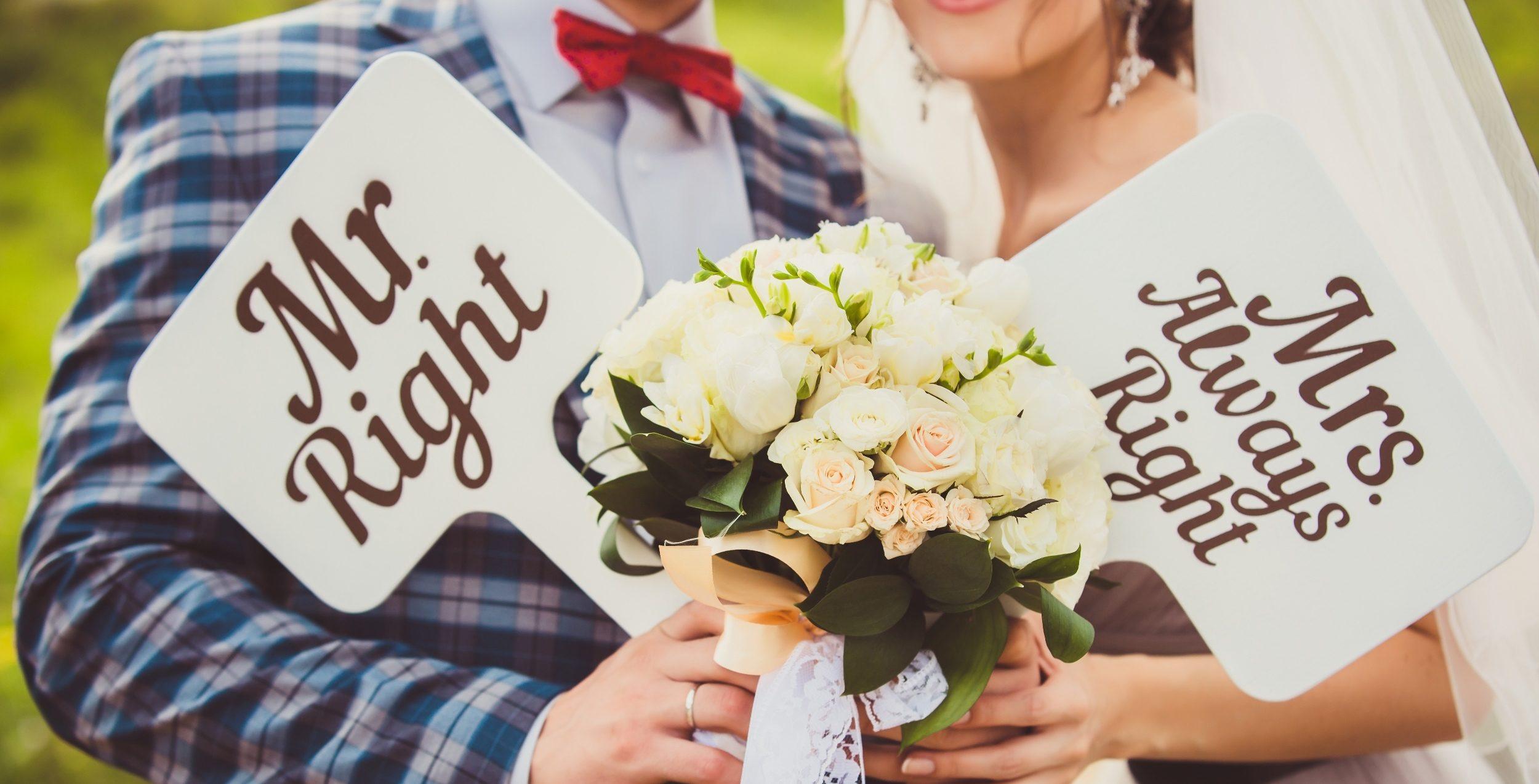 Таблички для свадебной фотосессии